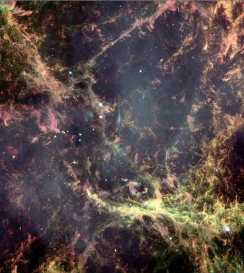 Heart of the Crab Nebula